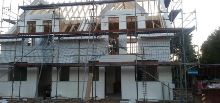 Doppelhaus mit Richtfest Birke