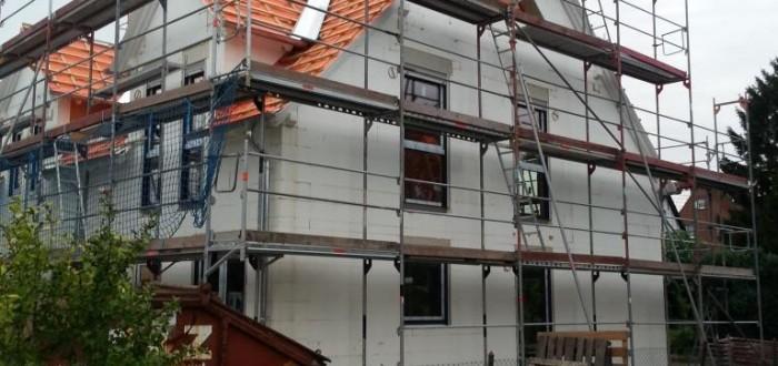 Haus mit Fenster von Seite