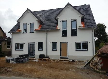 Haus fertig verputzt