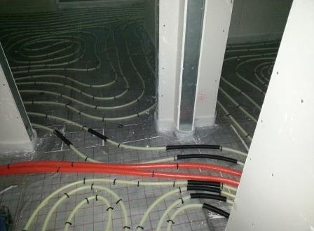 Fußbodenheizung im OG