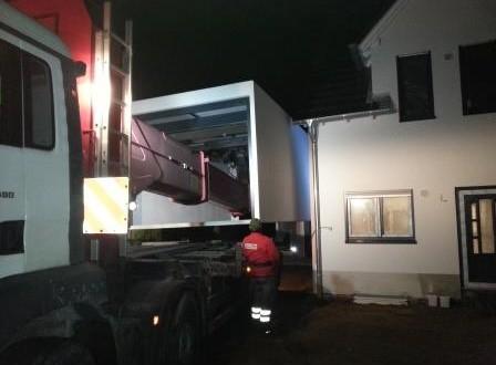 Aufsetzen der Garagen